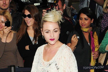 Jamie Winstone Celebrities at the Topshop Launch