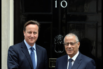 Ali Zeidan David Cameron Meets with Ali Zeidan