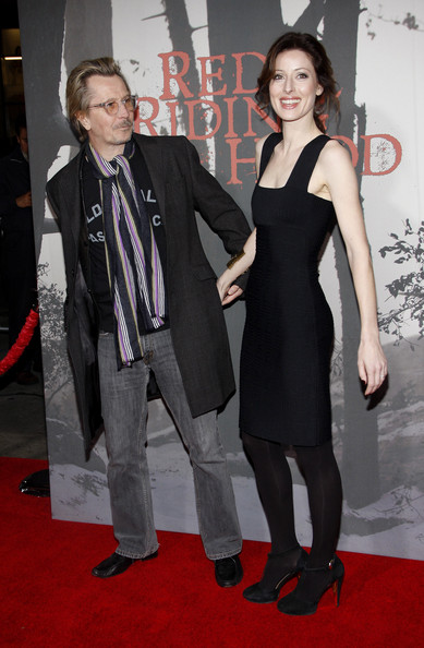 "Gary Oldman and Alexandra Edenborough attend the Los Angeles premiere of his new film ""Red Riding Hood"", held at the Grauman's Chinese Theater, Los Angeles."
