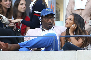 Amare Stoudemire Alexis Welch Celebs Watch the US Open Women's Final