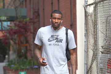Amare Stoudemire Amar'e Stoudemore Takes a Walk in the West Village