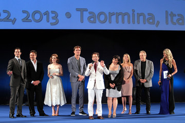 Amy Adams Zack Snyder Stars at the 'Man of Steel' Premiere in Taormina