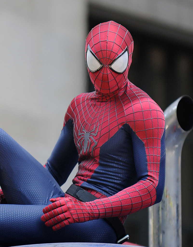 The amazing spider man 2 rhino set photo