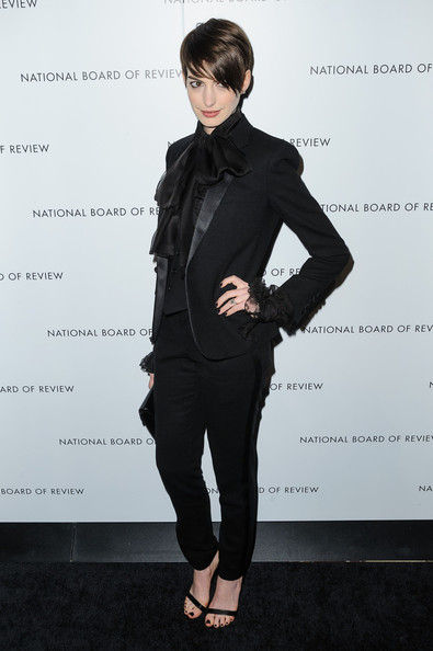 Anne Hathaway - The Red Carpet at the National Board of Review Awards