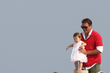Arpad Busson Uma Thurman and Family Vacation in St. Tropez — Part 3