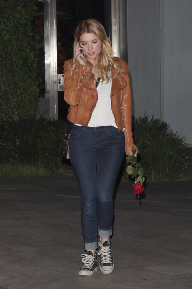 Ashley Benson Enjoys a Night Out - Zimbio