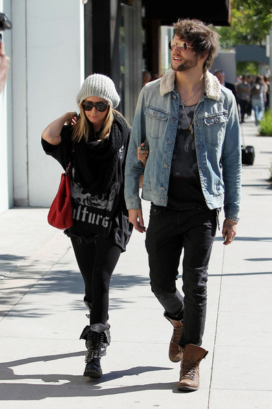 Ashley Tisdale and Martin Johnson Out in LA
