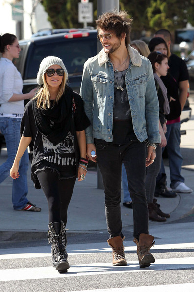 Ashley Tisdale and Martin Johnson Out in LA []