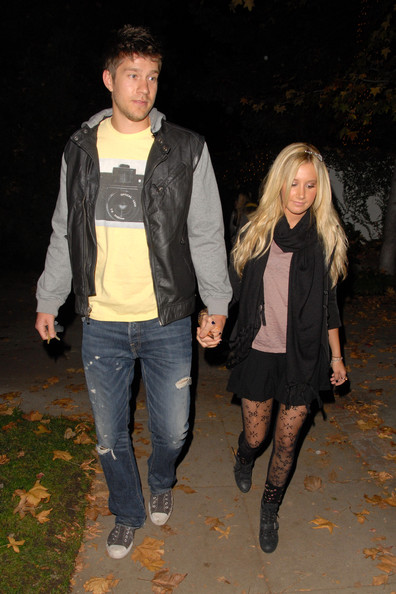 Ashley Tisdale Ashley Tisdale and boyfriend Scott Speer start the festive season early at a celeb-packed party in LA.