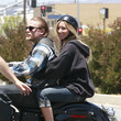 She rides motorcycles with Charlie Hunnam.