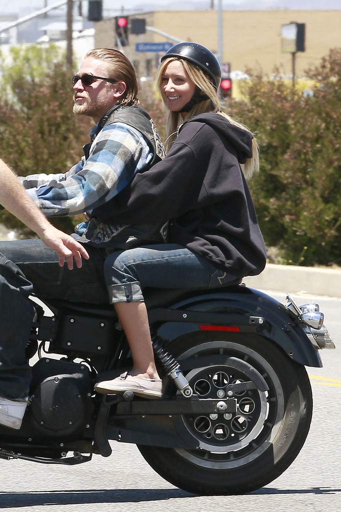 she rides motorcycles with charlie hunnam ashley
