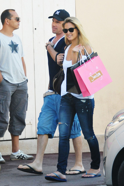 Bar Refaeli - Bar Refaeli and David Fisher in St. Tropez