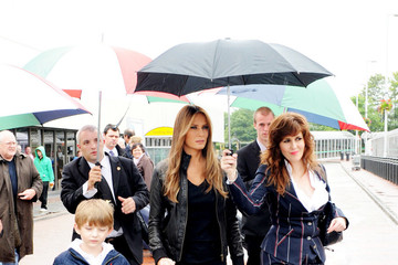 Barron Trump Melania Trump at Aberdeen Airport