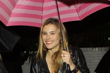 "Susie Abromeit ""Battle: Los Angeles"" actress Susie Abromeit is spotted leaving Chateau Marmont on a rainy night with a pink Victorias Secret umbrella"