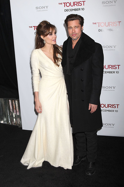 "Angelina Joile and Brad Pitt dazzle on the red carpet at the world premiere of ""The Tourist"" at the Ziegfield Theater in New York."