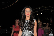Cara Kilbey seen out celebrating Frankie Essex's 26th birthday at STK restaurant in London.