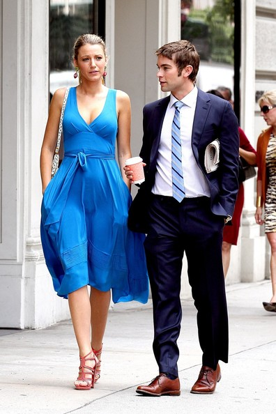 Blake Lively and Chace Crawford are spotted walking together while