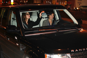 BoA Sela Ward makes her way out of Boa Steakhouse in Los Angeles
