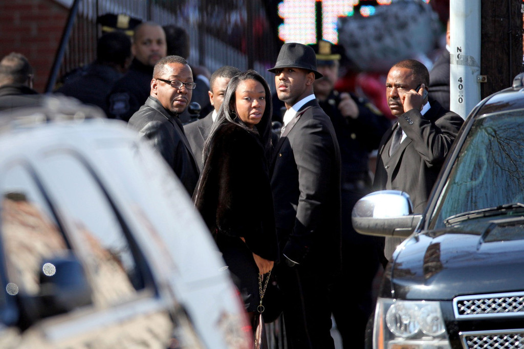 Whitney Houston Funeral Bobby Brown Leaves Whi...