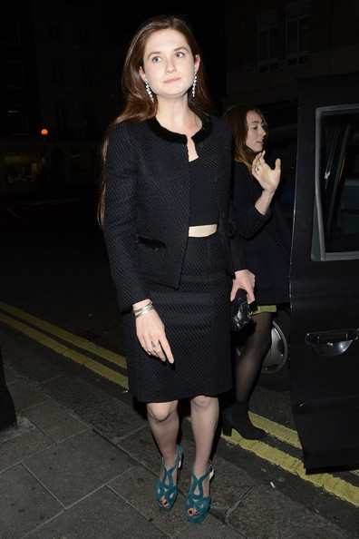 Bonnie Wright - Gillian Anderson at the Little House nightclub in London