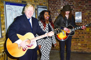 Boris Johnson, Mayor of London, joined by X Factor star Misha B, launches Gig 2013 in London. Gig 2013 is a competition, giving talented young musicians the opportunity to win a year long busking licence on London Underground.