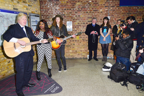Boris Johnson Hangs Out With Young Musicians []