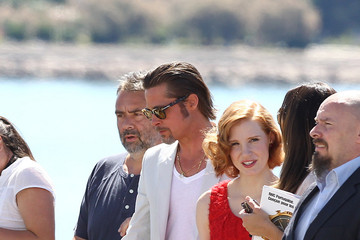 """Brad Pitt Jessica Chastain The Cannes Film Festival """"The Tree of life"""" Photocall 4"""