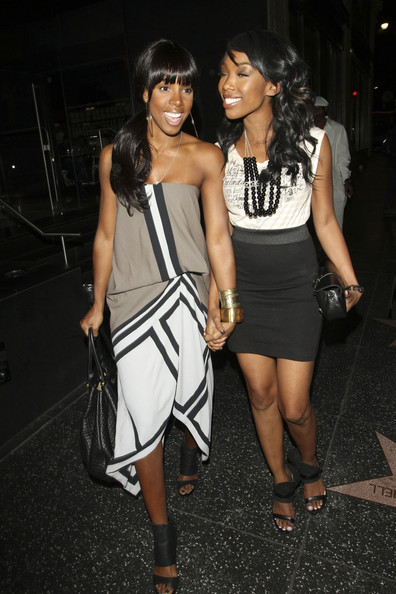 Photo of Kelly Rowland & her friend musician  Brandy Norwood - Longtime