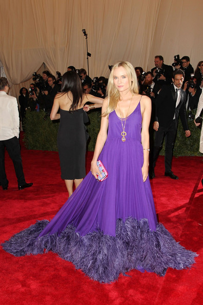 Diane Kruger shines on the red carpet at the Met Gala at the Metropolitan Museum of Art in NYC.
