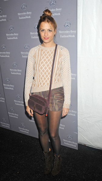 Byrdie Bell attending the Charlotte Ronson Fall 2012 fashion show during Mercedes-Benz Fashion Week at The Stage at Lincoln Center in New York City