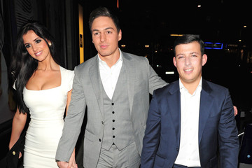 """Chris Drake Cara Kilbey arriving for """"The Only Way Is Essex"""" end of series wrap party held at Kensington Roof Gardens, London"""