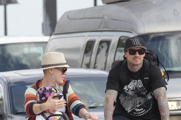 Carey Hart Pink Out Biking With Her Family 3