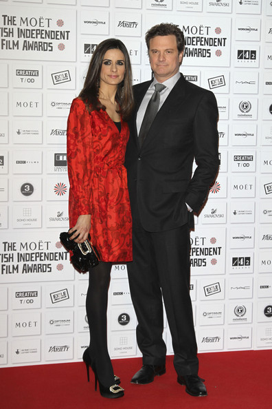 Colin Firth and his wife Livia on the red carpet at the Moet British Independent Film Awards at the Old Billingsgate Market, London.