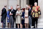 Prince Andrew, Prince Charles, Camilla, Prince William, Catherine Duchess of Cambridge and Prince Harry seen leaving St Paul's Cathedral in London after Queen Elizabeths Diamond Jubilee Thanksgiving Service.