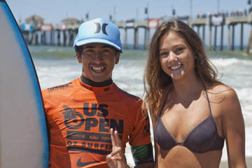 Miguel Pupo Rob Machado Competes at 2011 Nike US Open of Surfing