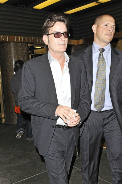 Charlie Sheen Leaves the NBC Studios in NYC