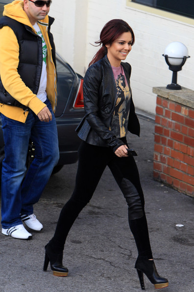 "Cheryl Cole Cheryl Cole is in high spirits as she arrives at the Fountain studios in London for ""X-Factor"" rehearsals."