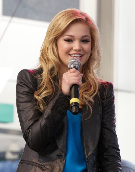 Disney actress/singer and star of 'Kickin' It' Olivia Holt seen performing live on stage at the The Magnificent Mile Light Festival in Chicago []