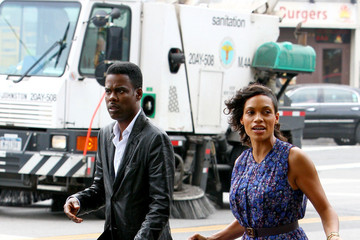 Chris Rock Rosario Dawson The Untitled Chris Rock Project Films in NYC — Part 2