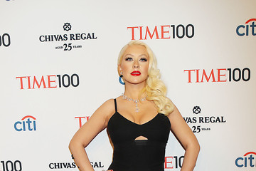 Christina Aguilera Celebs at the TIME 100 Gala