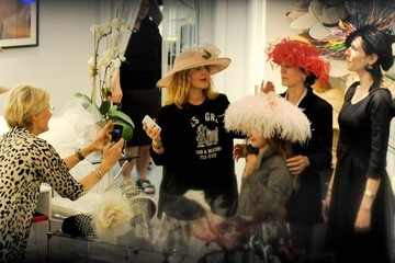 Coco Kopelman Drew Barrymore Tries on Wedding Hats
