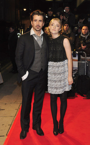 "Colin Farrell and Saiorise Ronan at the premiere of the fact-based thriller ""The Way Back"", held at Mayfair's Curzon cinema. The movie, based on real life events, follows a group of soliders who escape rom a Siberian gulag in 1940."