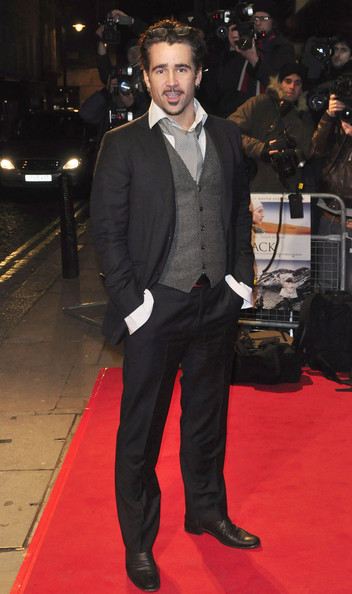 "Colin Farrell at the premiere of the fact-based thriller ""The Way Back"", held at Mayfair's Curzon cinema. The movie, based on real life events, follows a group of soliders who escape rom a Siberian gulag in 1940."