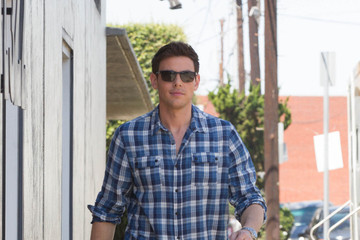Cory Monteith 'Glee' Cast Arrives at the Studio