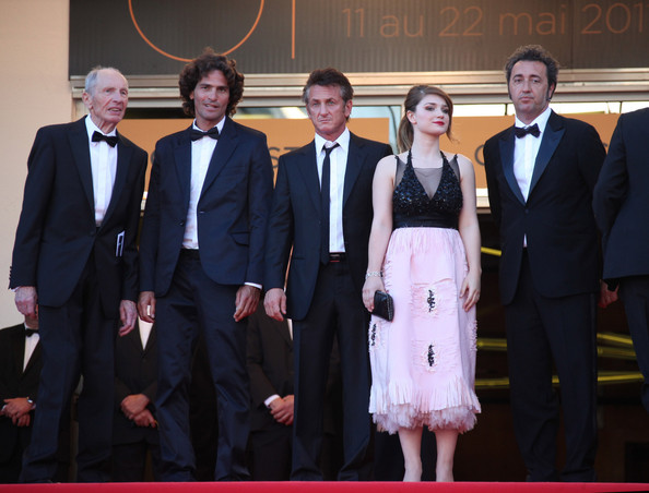 "Sean Penn and Eve Hewson attend a screening of ""This Must be the Place"" at the Cannes Film Festival."