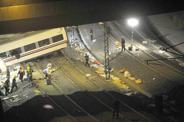 Crash General Views of Train Wreckage in Spain