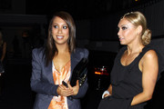 """Dancing with the Stars"" pro dancers Cheryl Burke and Kym Johnson kick back at Chateau Marmont following Monday night's live show."