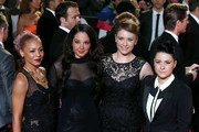 """Jade, Tulisa, Ella, Lucy at the World Premiere of the newest installment of the James Bond series, """"Skyfall"""" held at the Royal Albert Hall in London."""