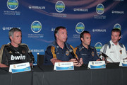 David Beckham, Landon Donovan, Bruce Arena, and Jose Mourinho discuss their participation in the 2011 Herbalife World Football Challenge. During the press conference the players held up each others Soccer Jerseys.