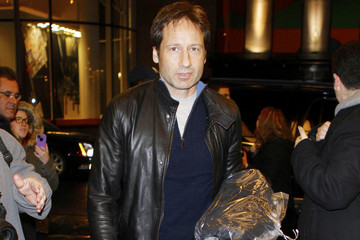 David Duchovny Mike Eli Goes to NBC Studios
